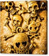 Skulls And Crossbones Acrylic Print