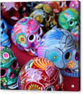 Skulls Day Of The Dead  Acrylic Print