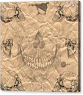 Skulls In Grunge Style Acrylic Print