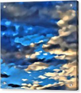 Sky And Clouds Acrylic Print