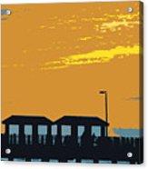 Sky And Pier Acrylic Print