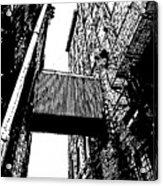 Sky Bridge - Black And White Acrylic Print
