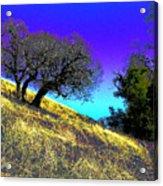 Sky Burning Blue Acrylic Print