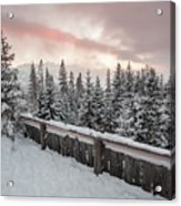 Sky Crack Over Tatra Mountains Acrylic Print