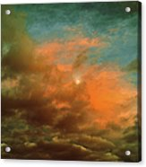 Sky Moods - When The Moons Behind The Clouds Acrylic Print