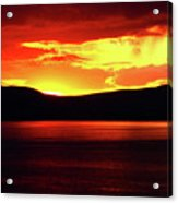 Sky Of Fire Acrylic Print