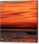 Sky Ripple Sunset Acrylic Print