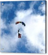 Skydiver With Flag Acrylic Print