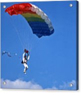 Skydiving - 1 Acrylic Print by Randy Muir