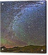 Skygazer Standing Under The Stars Acrylic Print