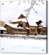 Skyland Farms In Winter Acrylic Print