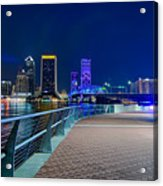 skyline and river coast scenes in Jacksonville Florida Acrylic Print