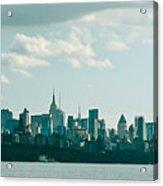 Skyline From Gwb 2 Acrylic Print
