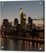 Skyline Of Frankfurt City In Twilight Acrylic Print