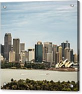 Skyline Of Sydney Downtown  Viewed From Taronga Hill, Australia Acrylic Print