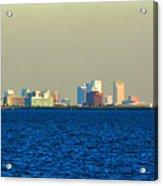 Skyline Of Tampa Bay Florida Acrylic Print