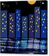 Skyline Reflections Acrylic Print by Arline Wagner