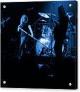 Skynyrd Sf 1975 #10 Crop 2 Enhanced In Blue Acrylic Print