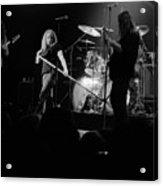 Skynyrd Sf 1975 #10 Crop 2 Enhanced In Bw Acrylic Print