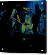 Skynyrd Sf 1975 #10 Crop 2 Enhanced In Cosmicolors Acrylic Print