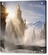 Skyrim Fantasy Ruins Acrylic Print by Alex Ruiz