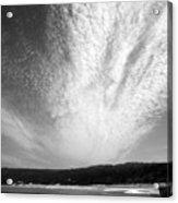 Skyscape At Carmel Beach B And W Acrylic Print