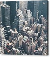 Skyscrapers View From Above Building 83641 3840x1200 Acrylic Print