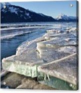 Slabs Of Ice Acrylic Print