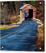 Slate Covered Bridge Acrylic Print