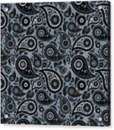 Slate Gray Paisley Design Acrylic Print