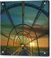 Slauson Sunset Acrylic Print