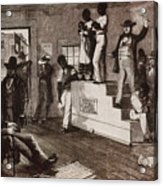 Slave Auction In Virginia Acrylic Print by Photo Researchers