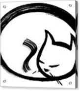 Sleeping Cat Acrylic Print