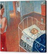 Sleeping Child Acrylic Print by Kuzma Sergeevich Petrov Vodkin