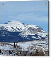 Sleeping Indian Mountain Acrylic Print