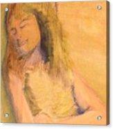 Sleeping With Baby Acrylic Print