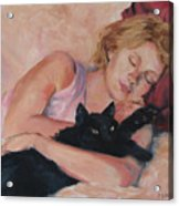 Sleeping With Fur Acrylic Print
