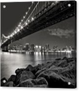 Sleepless Nights And City Lights Acrylic Print by Evelina Kremsdorf