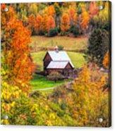 Sleepy Hollow Farm In Fall Acrylic Print