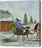 Sleigh Ride Acrylic Print by Charlotte Blanchard