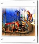Slice Of Life Milkman Blue City Houses India Rajasthan 1a Acrylic Print