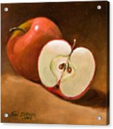 Sliced Apple Acrylic Print