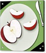 Sliced Apple Acrylic Print