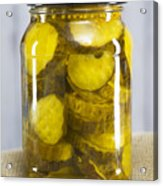 Sliced Pickles In Clear Glass Jar Acrylic Print