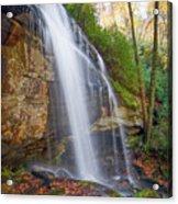 Slick Rock Falls, A North Carolina Waterfall In Autumn Acrylic Print