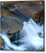 Slide Rock Acrylic Print by Kelly Wade