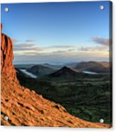 Slieve Bearnagh Rusty Golden Sunset Acrylic Print