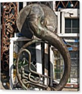 Slightly Worn Out Vintage Tuba Seeks New Home Acrylic Print