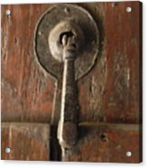 Slim Door Knocker Acrylic Print
