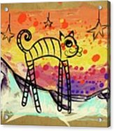 Slinky Cat Acrylic Print